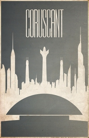 All sizes | Coruscant | Flickr - Photo Sharing! #design #wars #poster #star #minimalist