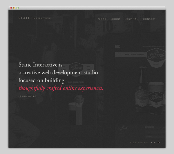 Static Interactive #website #layout #design #web