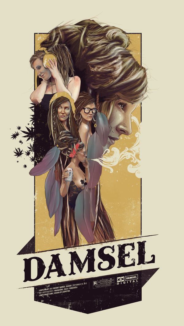 Damsel Suicide on Behance by Loopstok #vint #suicidegirls #print #art #poster #typography