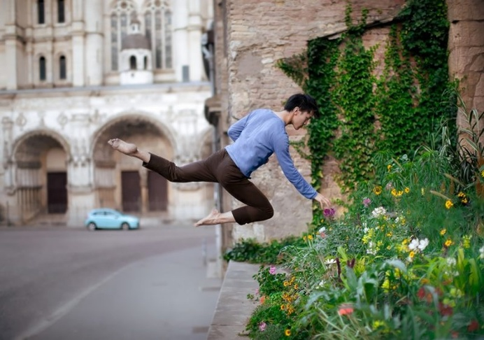 Fascinating Ballet Self-Portraits While Airborne by Mickael Jou