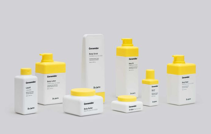 Dr Jart+ by Pentagram #packaging #identity #minimalism #clean #product #photography #yellow