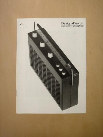 Design+Design 26 (via Alphanumeric.) #products #design #graphic #des #braun #magazine