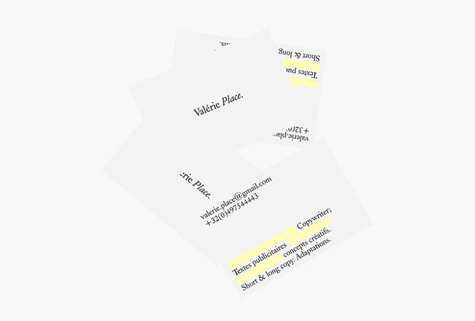 Valérie Place by Dimitris Kostinis #branding #stationery #typography