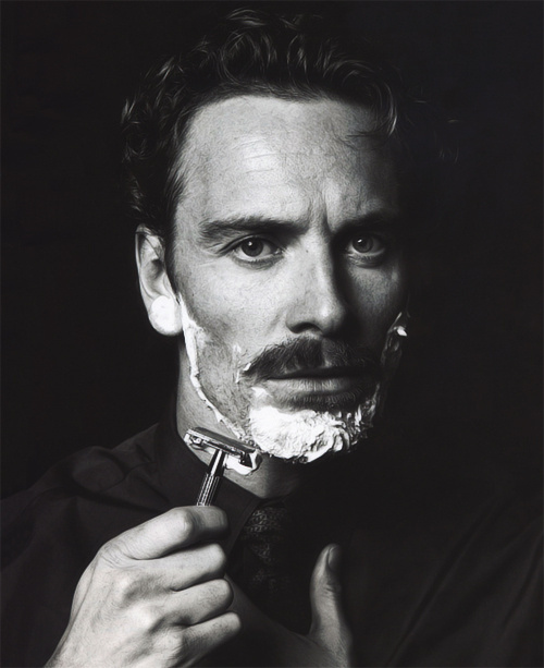 Michael Fassbander - XXVIII #film #white #black #shave #photography #and #fassbender #michael