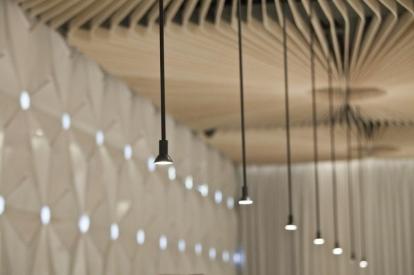 Graffiti Cafe lighting inside #interior #caf #graffiti #modern #archietecture #cafe #architecture
