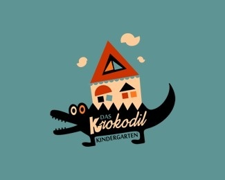 Das Krokodil Kindergarten by szende #logo #illustration