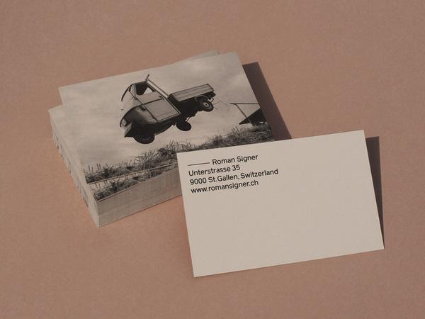 Bureau Collective – Roman Signer #card #business