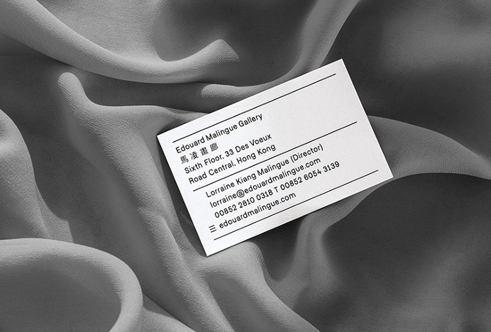 Edouard Malingue Gallery by Lundgren+Lindqvist #business #card