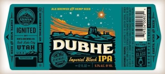 dubhe_label.jpg (JPEG Image, 1230x556 pixels) #white #orange #label #black #seal #gold #type #green