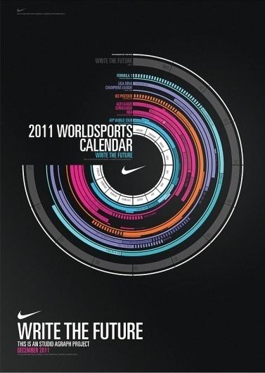 Write the Future - Calendar on the Behance Network #nike #calendar #posters
