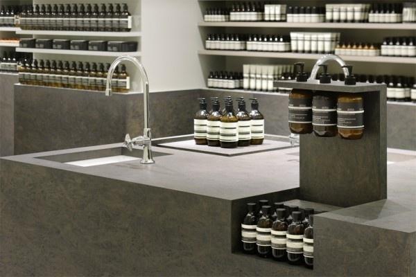 イソップ 新丸ビル店 « TORAFU ARCHITECTS トラフ建築設計事務所 #interior #polished #pharma #chipboard