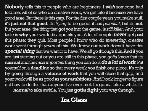 Put This On • Sometimes people ask me about how I created my... #quote #ira #creativity #glass