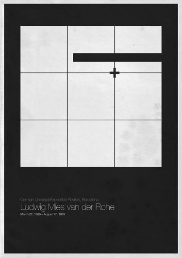 Six Architects | Fubiz™ #architect #minimal #poster