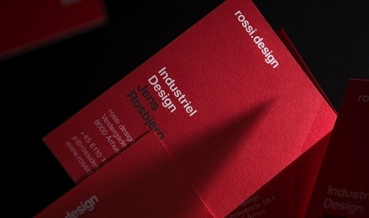 rossi.design - identity on the Behance Network #brand #identity #branding #red