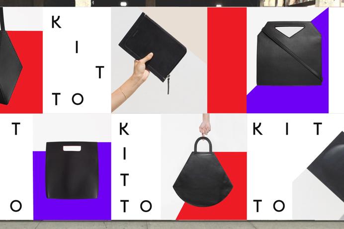 Kitto by Katie Minchak branding design mindsparkle mag fashion purple red bag stationery logo logotype branding corporate design identity mi