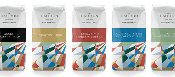 The Halcyon Logo and Identity #coffee #identity #branding