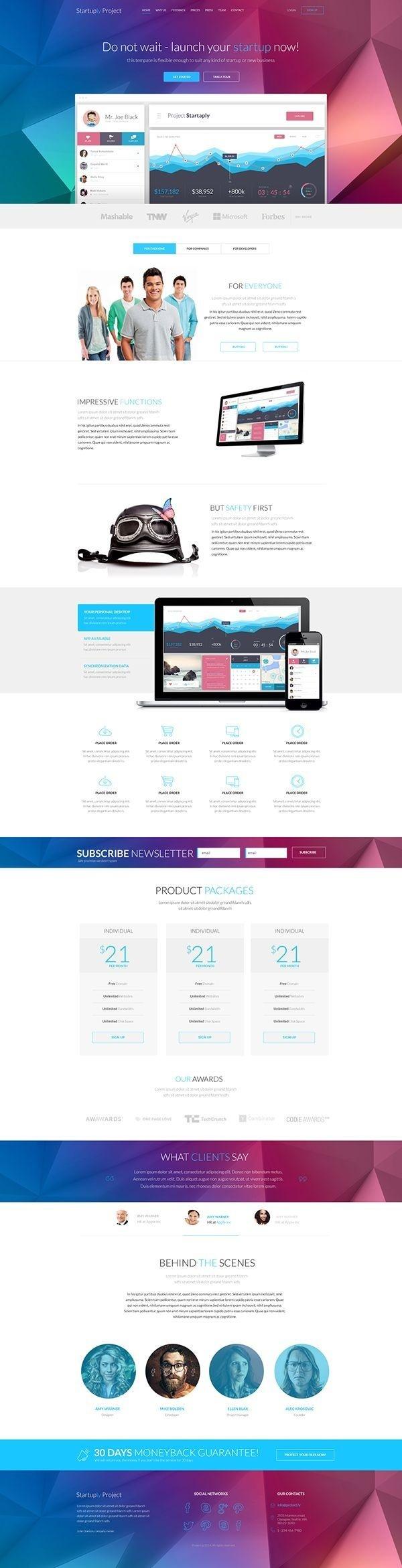 Startuply — Responsive Multi-Purpose Landing Page #page #responsive #design #website #landing