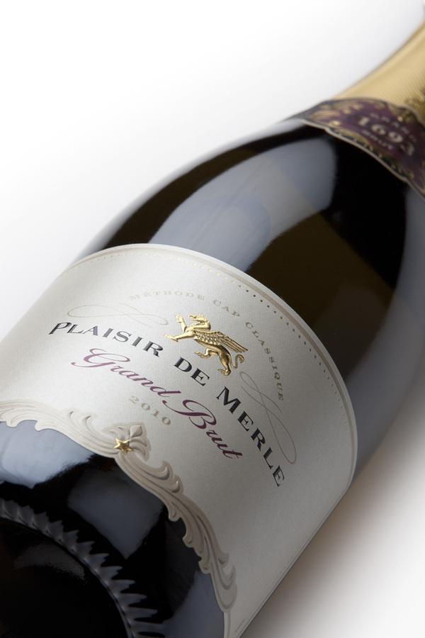 Plaisir de Merle Grand Brut MCC on Packaging Design Served #packaging #wine #label #bottle