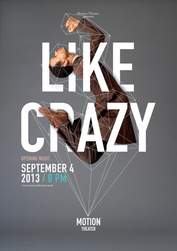 Motion Theather Identity – Fubiz™ kickass design ht: Foto Ruta. #type #poster #typography