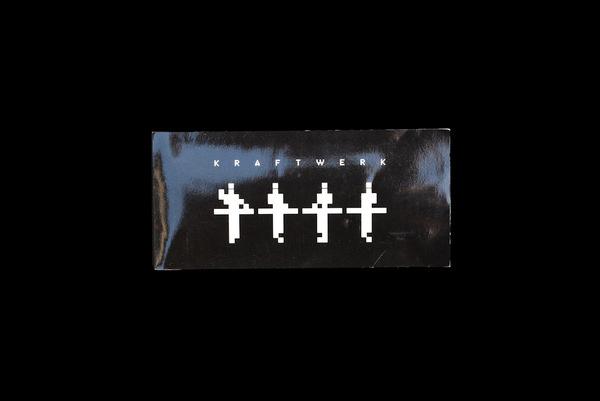 Kraftwerk ephemera #design #graphic #black #illustration #package