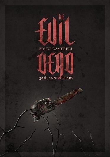 The Evil Dead Anniversary on the Behance Network #movie #design #artwork #poster #evil #dark #typography