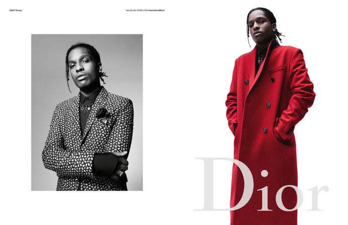 A$AP Rocky, Larry Clark Pose for Dior Homme
