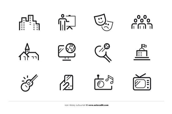 CultuurNet Vlaanderen azteca86 #icons #outline