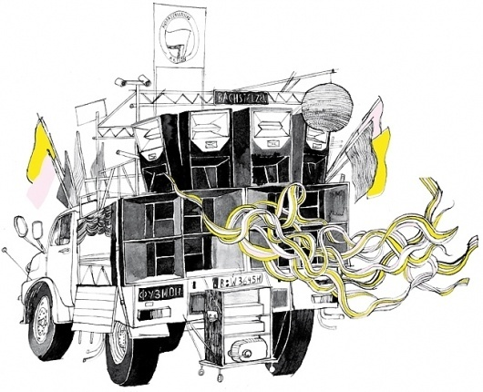 André Gottschalk Online Portfolio #truck #andre #gottschalk #illustration #car #drawing