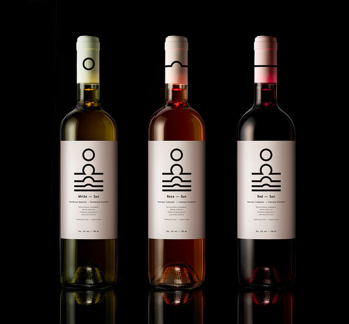 Sun wines, white - rose - red wine | mousegraphics #packaging #mousegraphics #whine