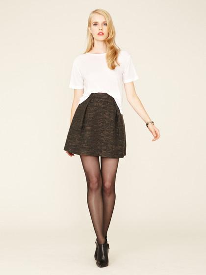 Mackage Textured Wool Pleated Skirt #wool #skirt #fall