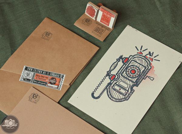 Art Print Packaging on Behance #ink #packaging #print #retro #photograph #ampersand #vintage #art