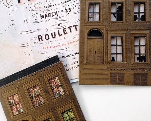 Paper Brownstones : Kelli Anderson #brownstone #invitation #brooklyn #typography