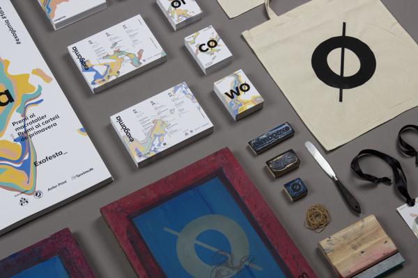 Exogamia, design festival branding by Oscar Medina, Ariadna Pujol, Judit Vilarasau, Albert Ramon, Sergi Delgado, Adria Molins #branding #festival #stationary #design #paint #colors #photography #brand #poster #barcelona #exogamia #typography