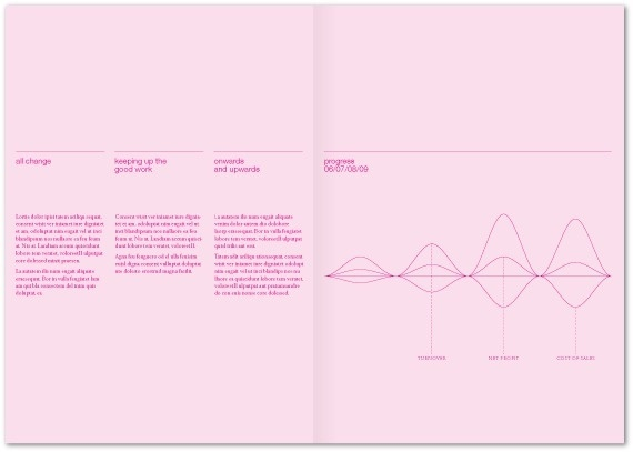 Studio AM annual report on Behance #waves #split