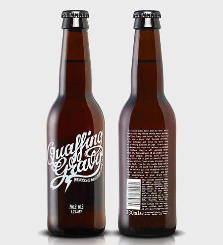 Quaffing Gravy Bottles #packaging #beer #label #bottle