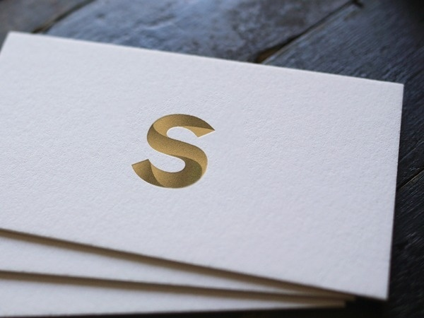 Monogrammed business cards #business #card #gold #cards #typography