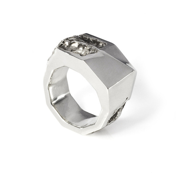 Via Malta Ring silver | SMITH/GREY #mens #accessories #white #b&w #silver #damaged #black #texture #jewellery #men #jewelry #and #fashion #ring #grey
