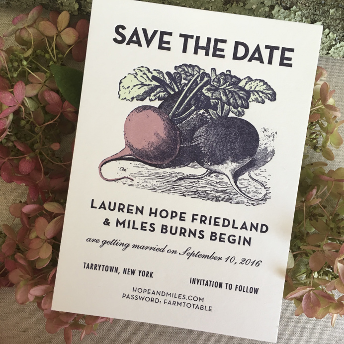 Illustrated Farm to Table Inspired Wedding Invitations by Robinson Press