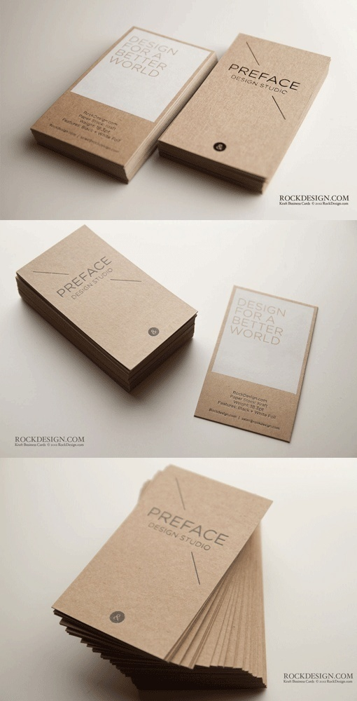 branding identity package / Eco Paper Business Card #identity #stationary