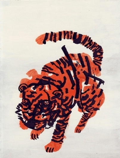 Niv Bavarsky - BOOOOOOOM! - CREATE * INSPIRE * COMMUNITY * ART * DESIGN * MUSIC * FILM * PHOTO * PROJECTS #tiger #orange #drawing #black