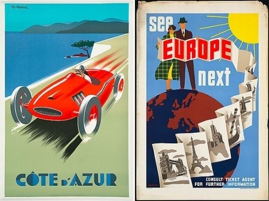 Vintage Travel Posters of the Boston Library (NOTCOT) #illustration #travel #vintage #poster