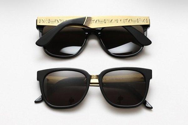 (218) Fancy Hieroglyphics Francis Sunglasses by Super #hieroglyphics #sunglasses #gold #fashion #style