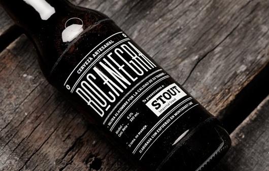 BOCANEGRA | MANIFIESTO FUTURA #beer #bottle #packaging #drink #black #label #stout