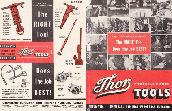 Independent Pneumatic Tool Aurora IL 4 Page Vintage Brochure Thor Power Tools #vintage #brochure