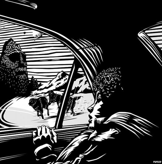 Looks like good Illustrations by Nir Peled #peled #illustration #nir #scene #wolf #mood #israel