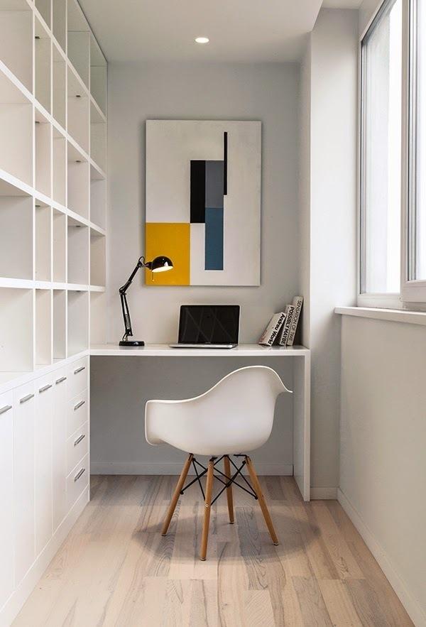 White Loft by Konastantyn Kaschuck. #interiors #workspace