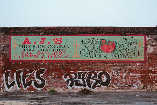 New Orleans on Behance #brick #billboard #creole #nola #orleans #tomato #painting #street #hand #new