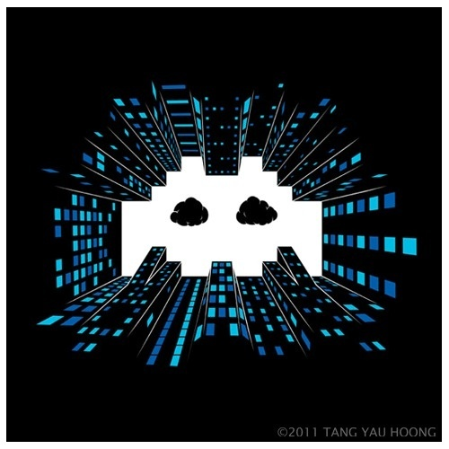 Sky Invader Tang Yau Hoong wp #negative #illustration #tangyauhoong #space
