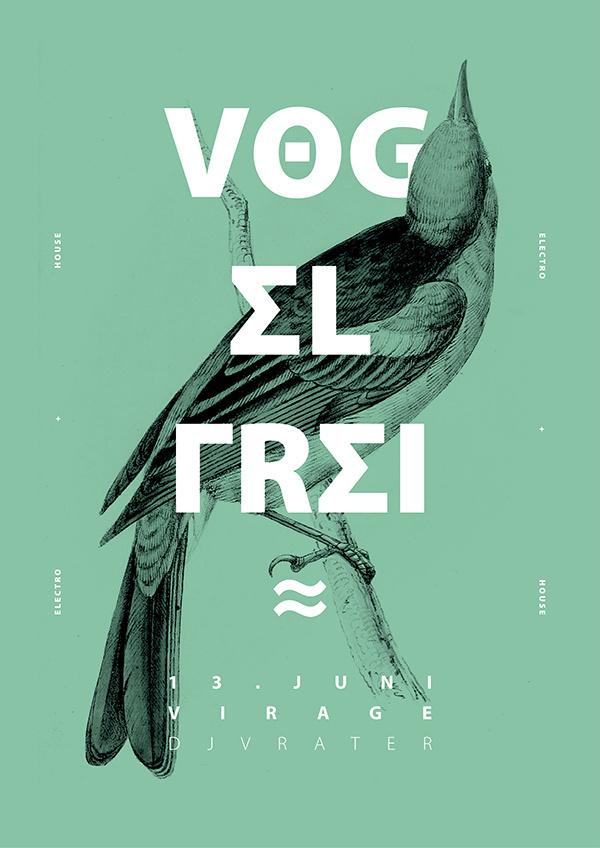 Vog el frei #cover #type #illustration