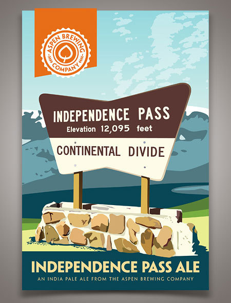 Aspen Brewing Company #beer #mountains #poster